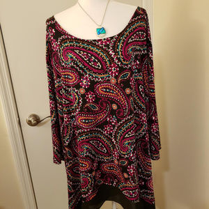 NWT 5X Catherine Multi Color Blouse